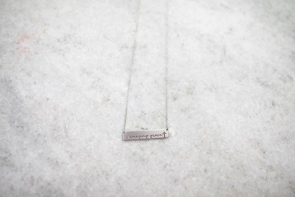 Amazing Grace Gold Necklace