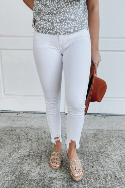 Simple Style White Jeans