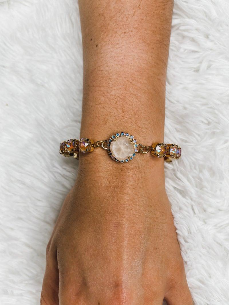 Victoria Lynn 12mm Crystal Wrap Cupchain - Cappuccino Delite & Cream