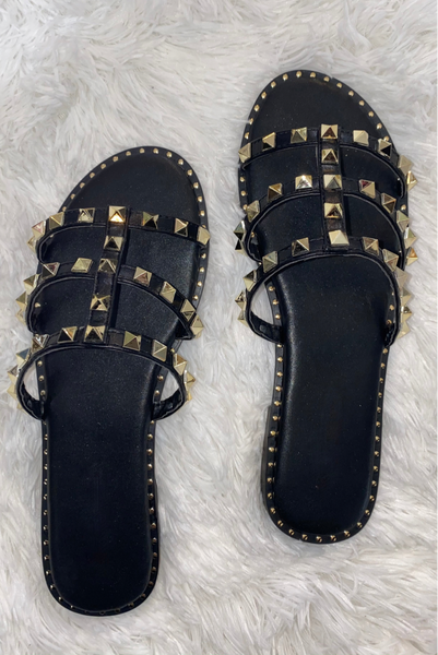 Keep Me Here Sandals - Black