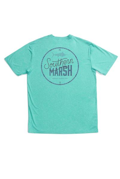 Southern Marsh FieldTech Heathered Tee-Marlin Time-Mint