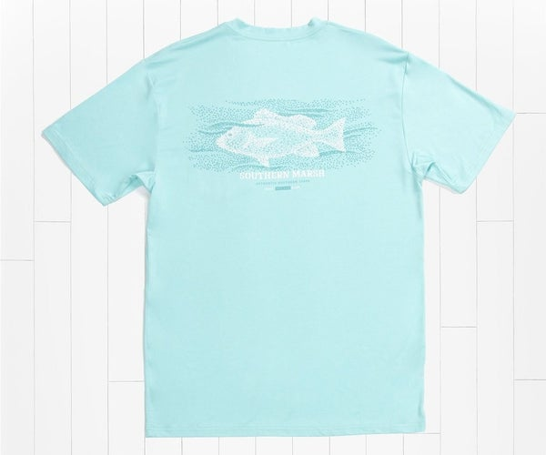 Southern Marsh Heathered Performance Tee - Snapper