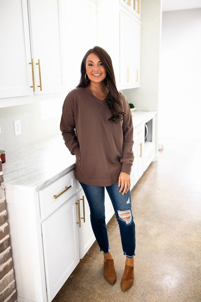 A Lucky Break Sweatshirt-Deal Of The Day-Mocha