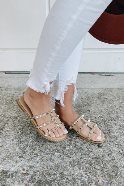 Keep Me Here Sandals - Taupe