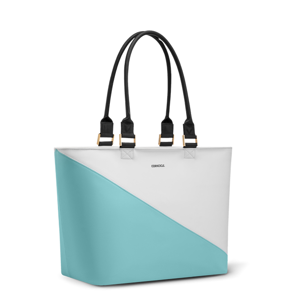 Virginia Tote Cooler-Turquoise Wedge *Final Sale*