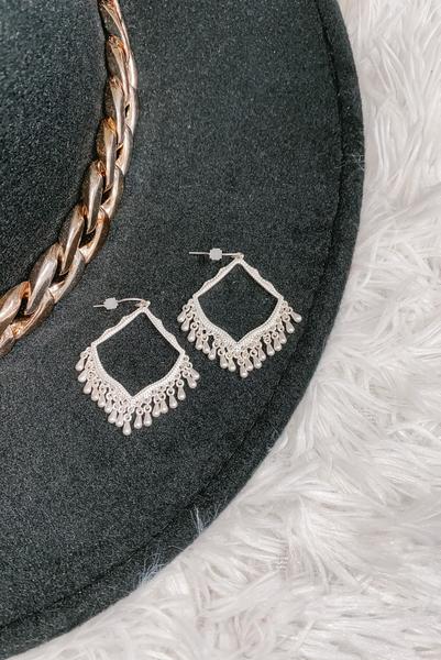 Sunburst Kiss Earrings-Silver
