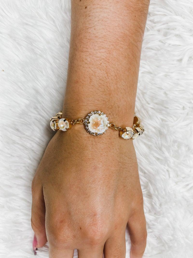 Victoria Lynn CZ Fancy Bracelet - Opal