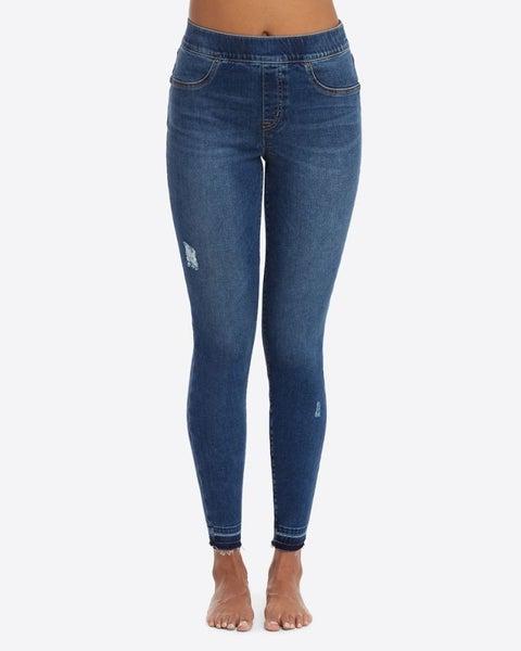 Distressed Skinny Spanx Leggings
