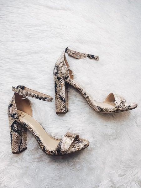 Classy & Sassy Heel-Snakeskin