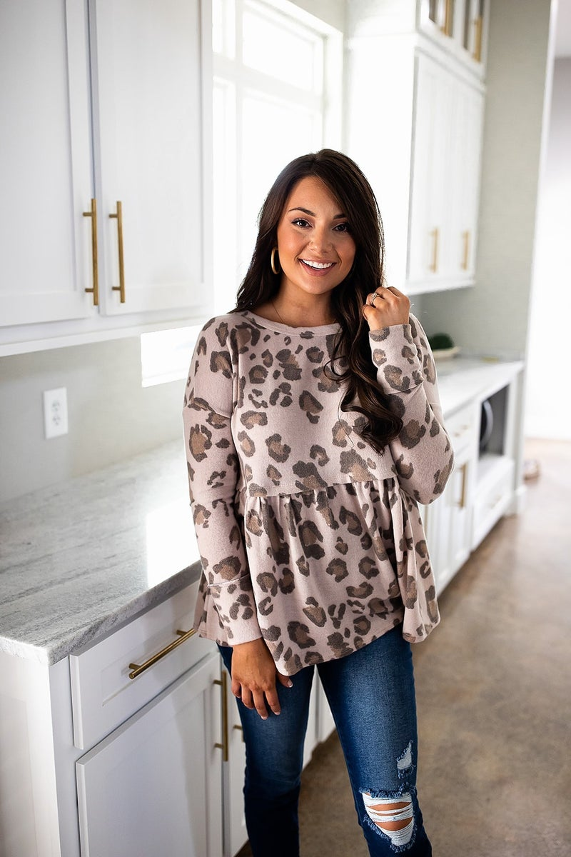 Leopard Time Top