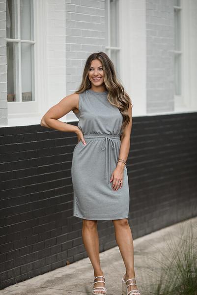 Daily Reminder Midi Dress - Grey