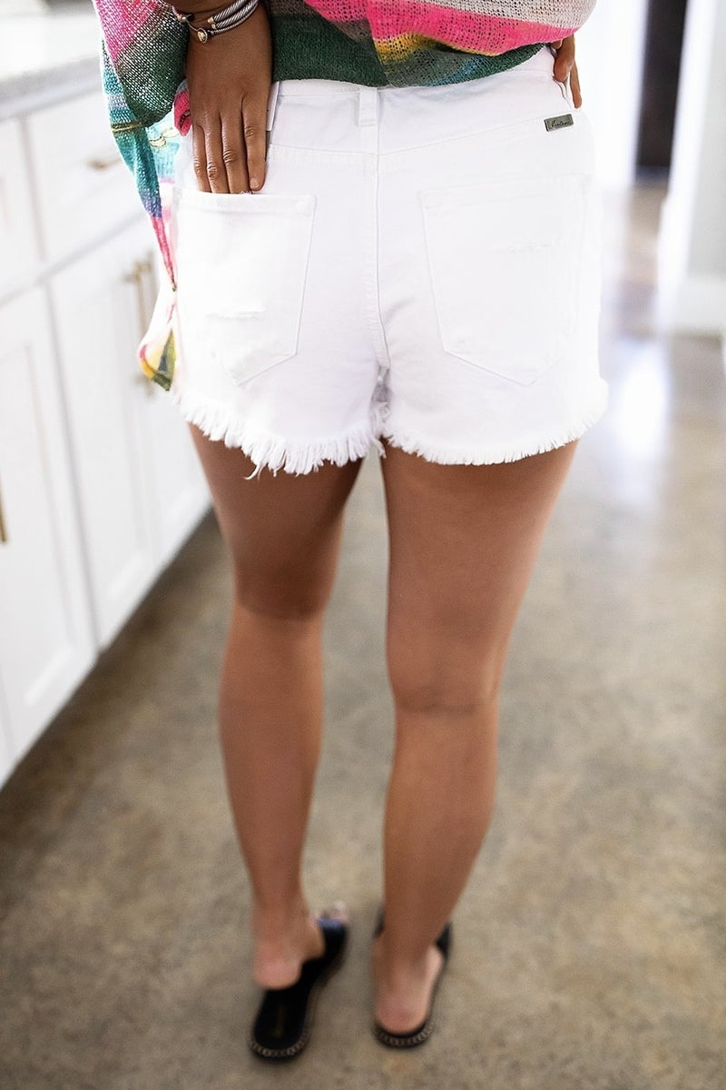 All Day Chic Shorts-White