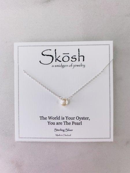 6mm White Pearl Skosh Necklace