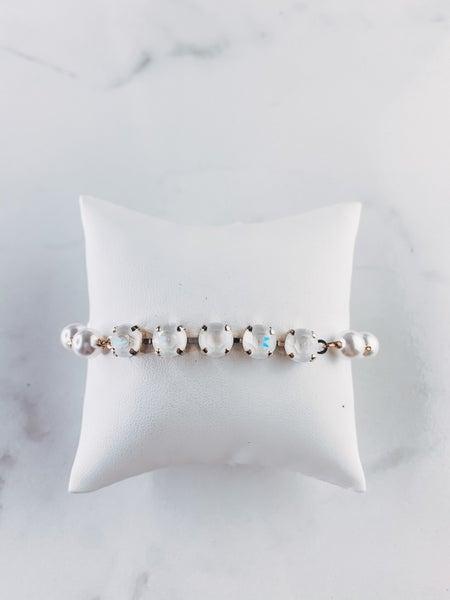 Victoria Lynn 8mm & Pearl Bracelet