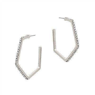 Believe In Time Earrings-Silver