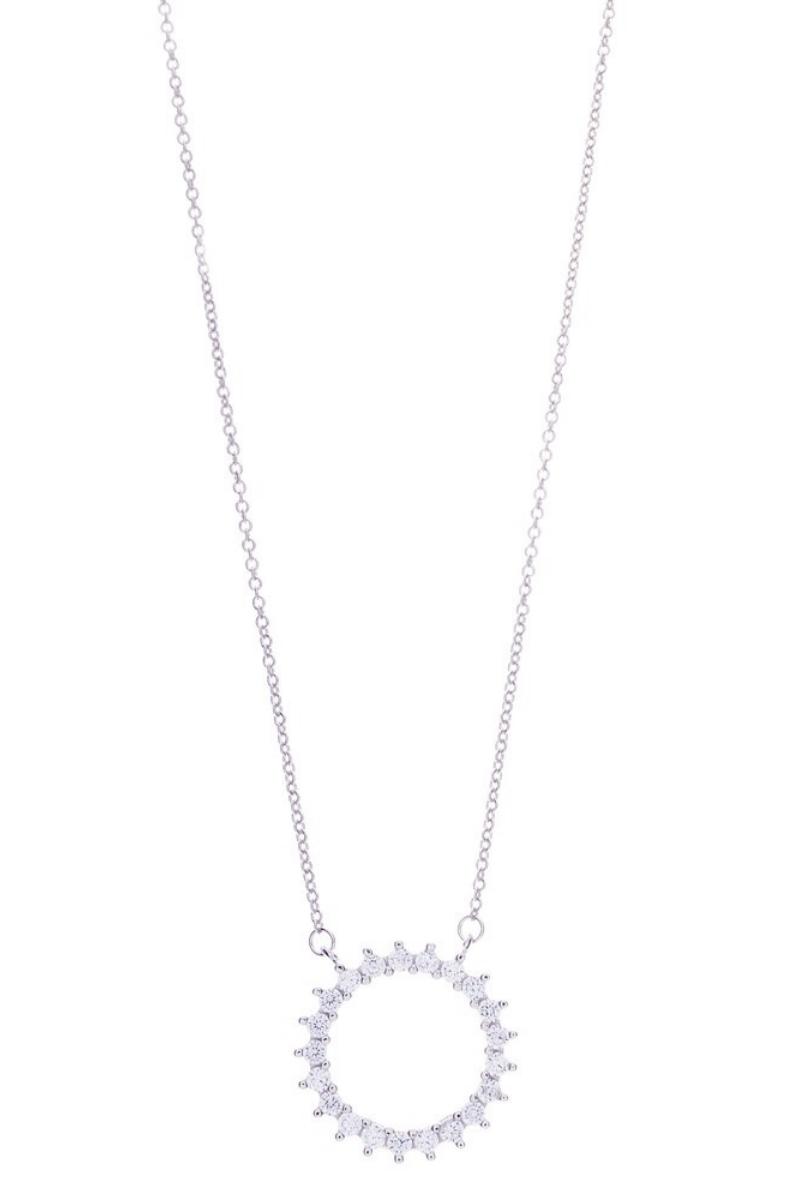 Victoria Lynn CZ Circle Necklace