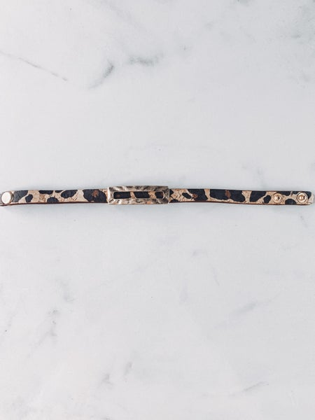 Party Over Here Cheetah Snap Bracelet