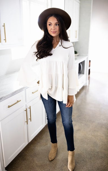 Unforgettable Style Top- Ivory