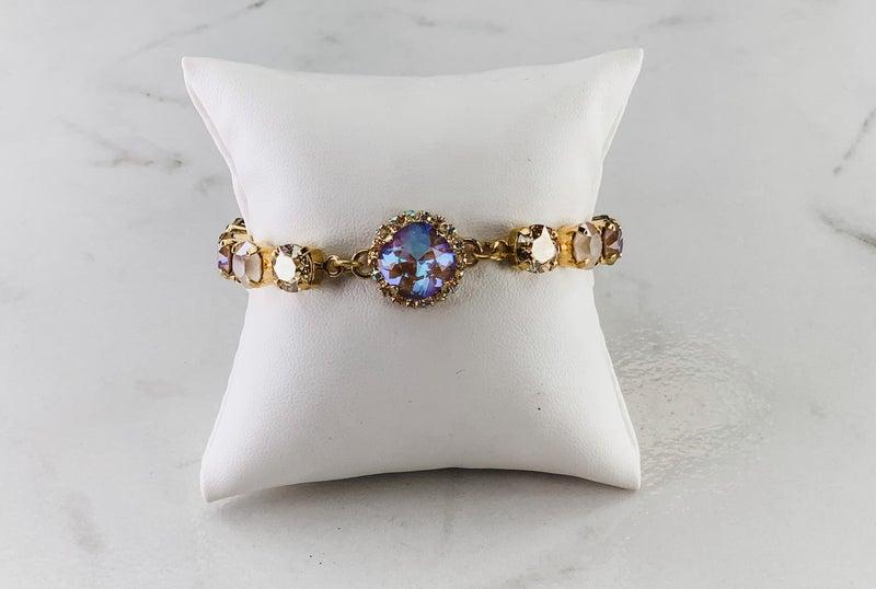 Victoria Lynn Crystal Wrap 6mm Bracelet