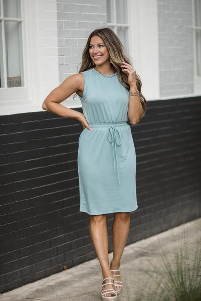 Daily Reminder Midi Dress - Sage