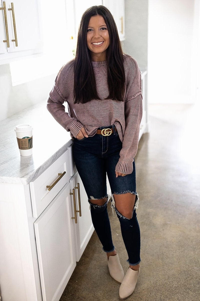 One Foot Up Sweater