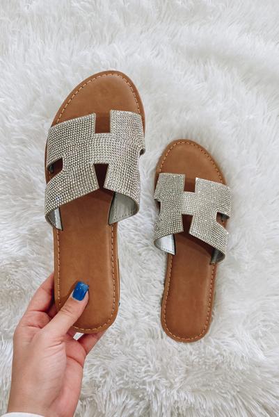 Sleek Style Sandals-Silver