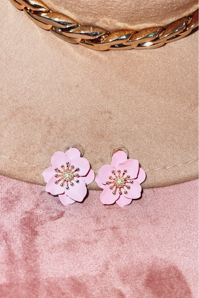 Charming Confidence Earrings-Pink