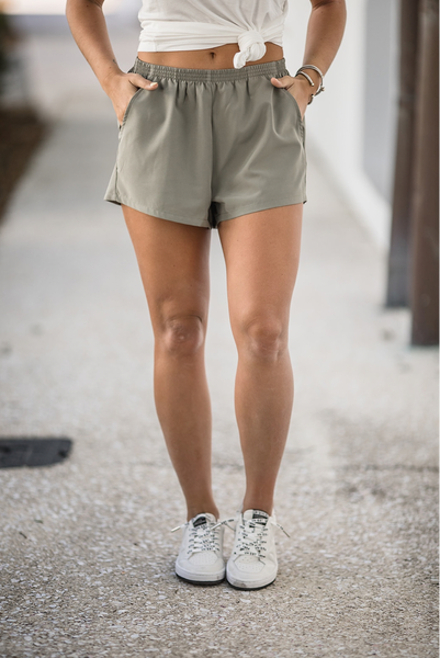 Most Obsessed Shorts - Smoke Olive