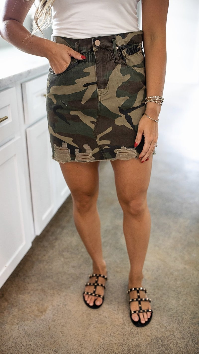 Camo Crushing Skirt