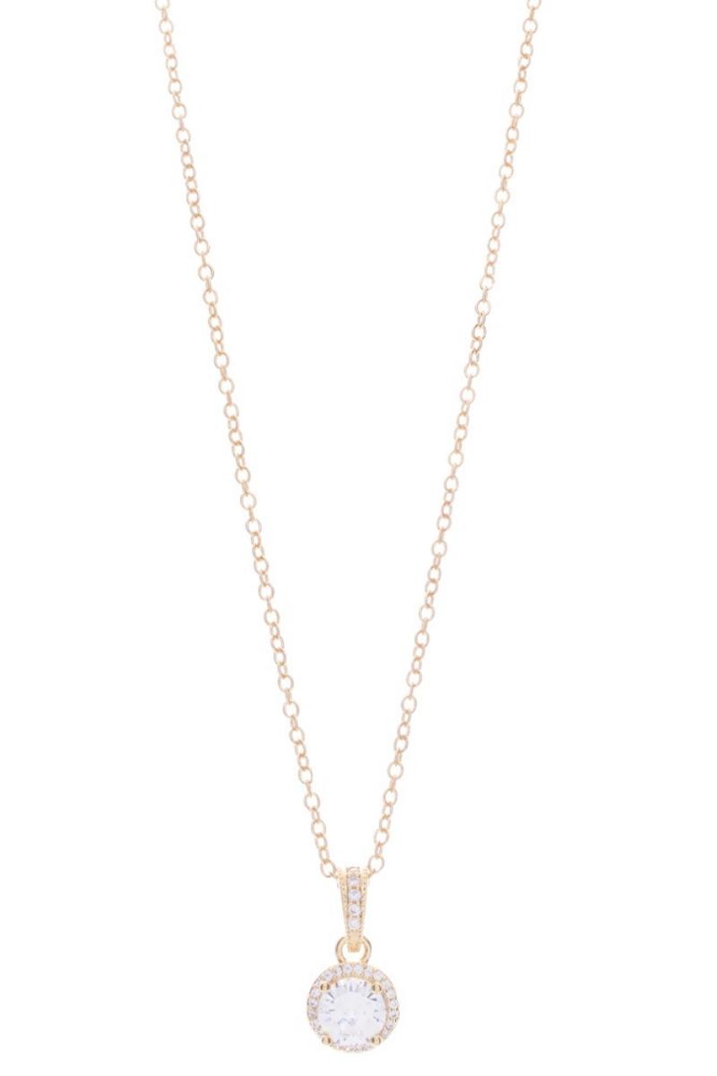 Victoria Lynn CZ Fancy Drop Necklace