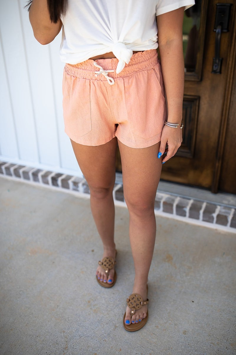 Casually Planned Linen Shorts