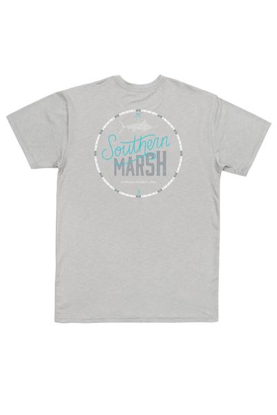 Southern Marsh FieldTech Heathered Tee-Marlin Time Light Gray