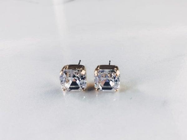Victoria Lynn Asscher 10mm Stud Earrings