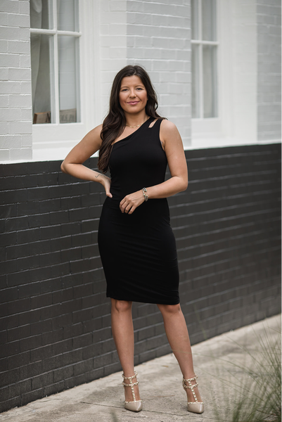 Simple Night Out Dress-Black
