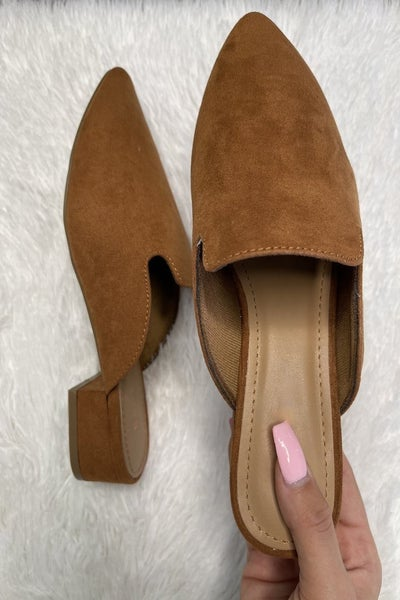 Come My Way Mules- Dk. Camel