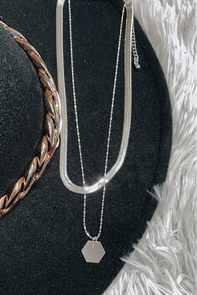 A Dose Of Class Necklace-Silver