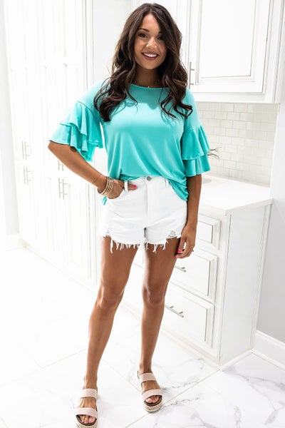 Welcome Back Top- Mint