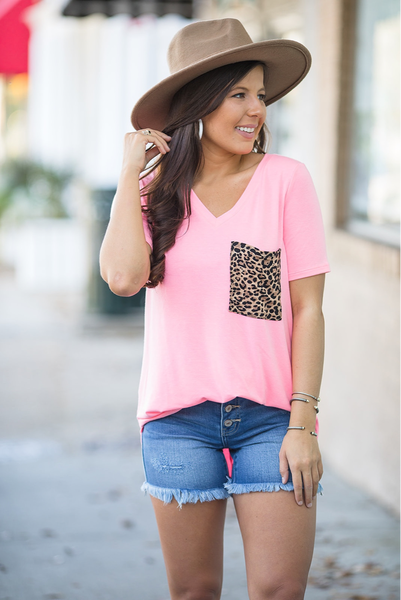 Secret Spot Top - Bright Pink - Deal Of The Day