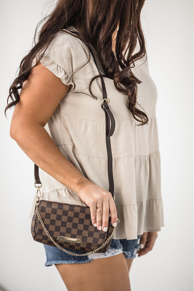 Oh So Chic Purse - Brown