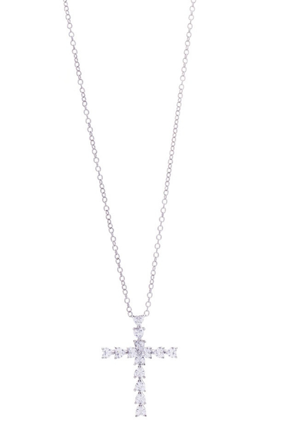 Victoria Lynn CZ Cross Necklace