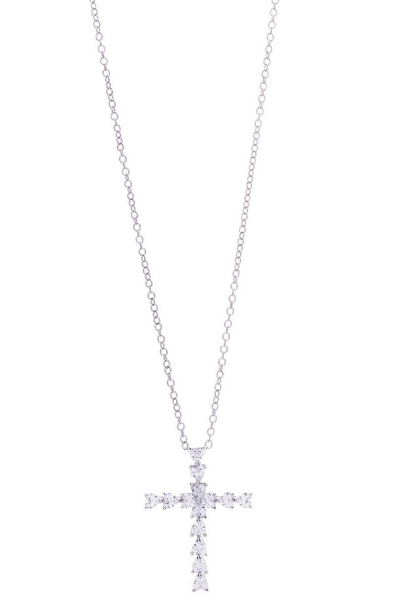 Victoria Lynn CZ Cross Necklace
