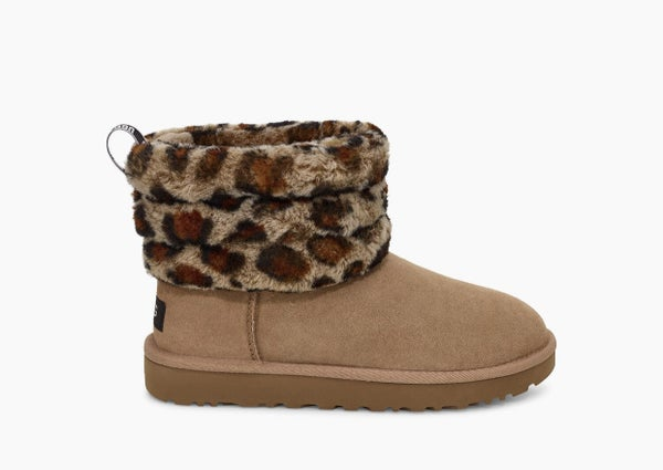 UGG Womens Mini Quilted Leopard Boots