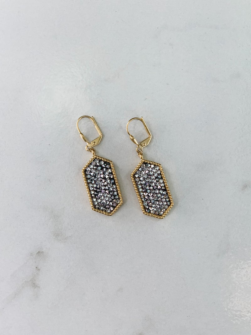 Victoria Lynn Druzy Earrings