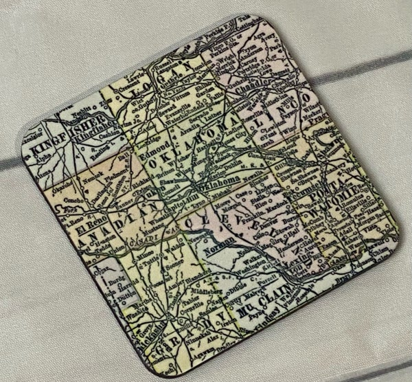 Oklahoma Map Coaster