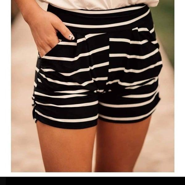 Classic Stripe Harem Shorts