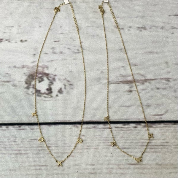 Gold Word Necklace 2 options available