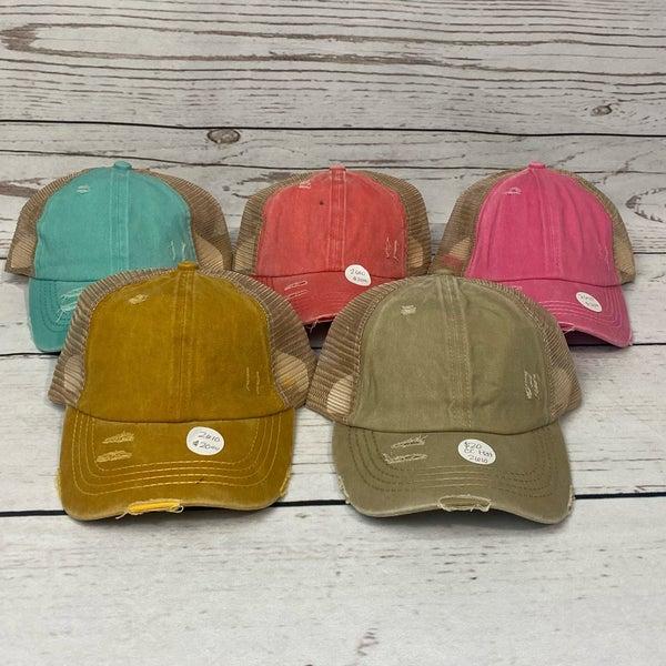 CC Crisscross Ponytail Hat