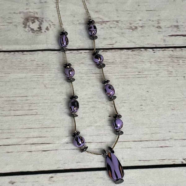 Purple Leopard Necklace