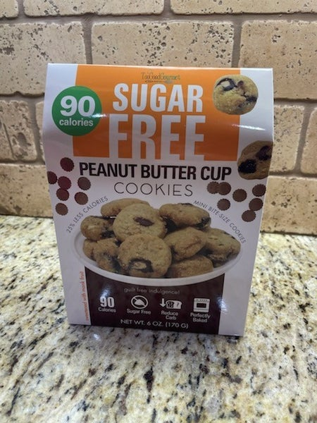 Sugar Free Peanut Butter Cup Cookies