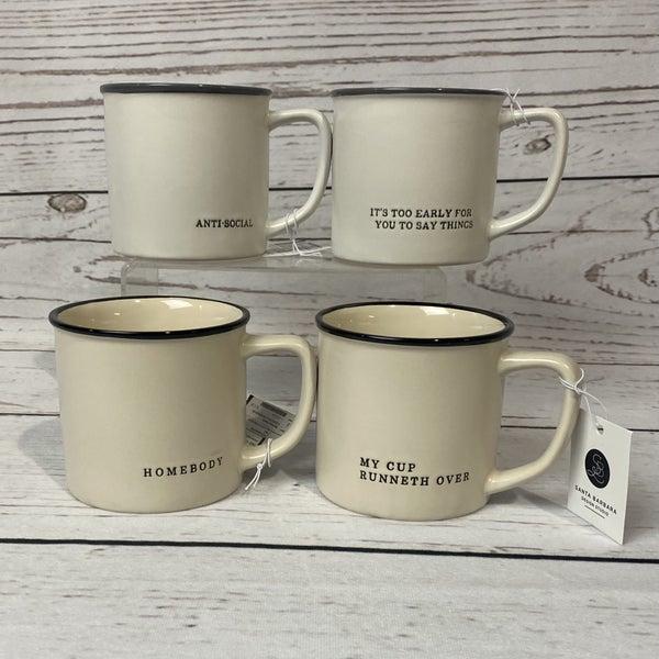 13 oz. Coffee Mug Cream & Black